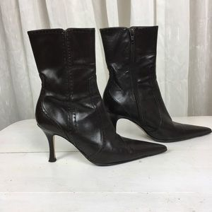🇮🇹 Vintage Mare Heeled Leather Booty
